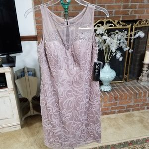 NWT Embellished Illusions Dress